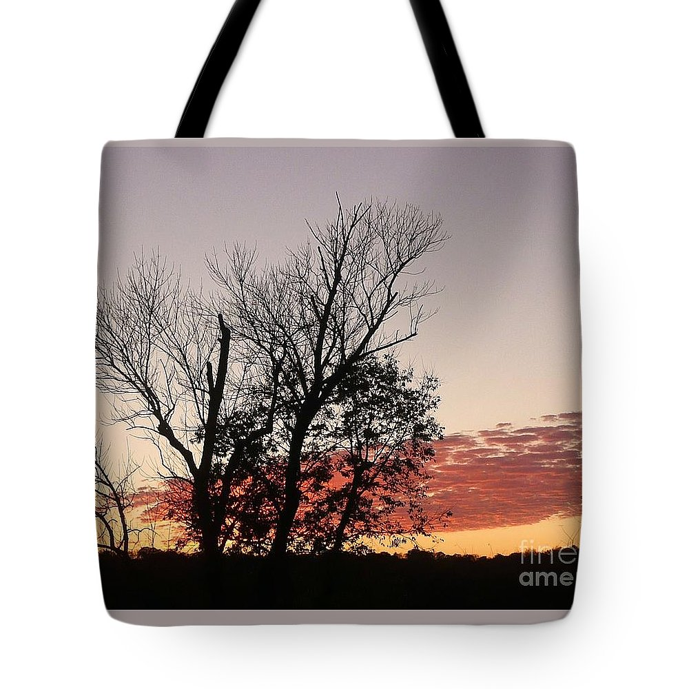 Sunset Tote Bag featuring the photograph October Evening by Barb Montanye Meseroll