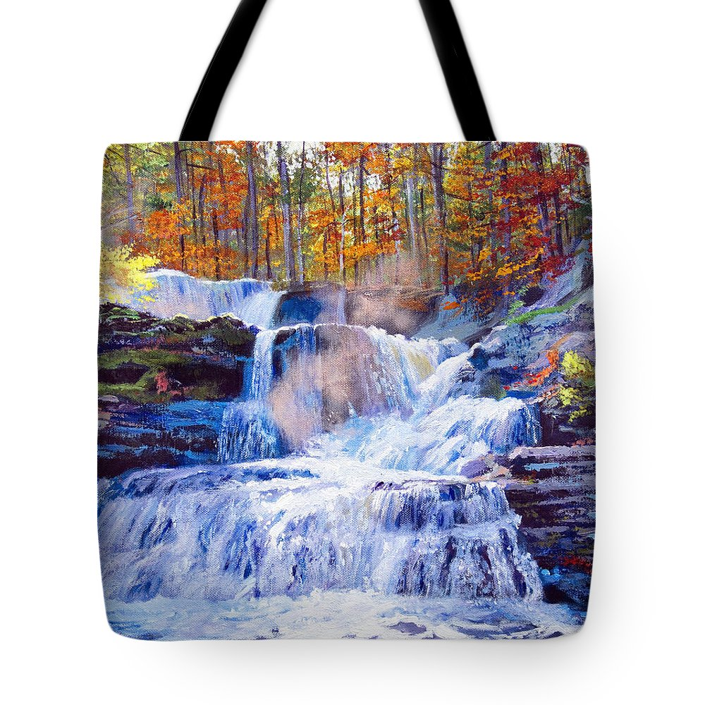 Impressionism Tote Bag featuring the painting October Falls by David Lloyd Glover