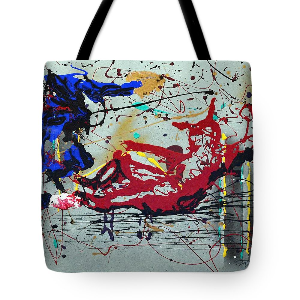 Impressionist Painting Tote Bag featuring the painting October Fever by J R Seymour