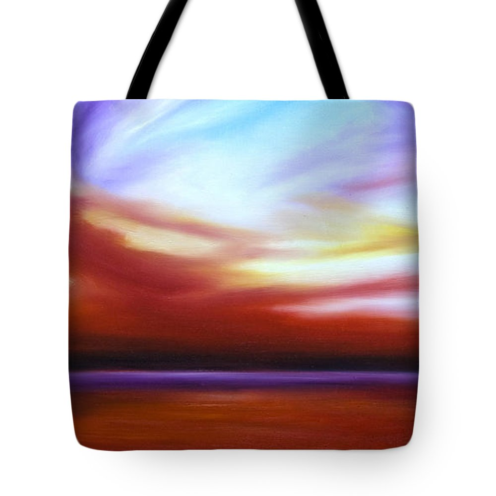 Skyscape Tote Bag featuring the painting October Sky IIi by James Christopher Hill