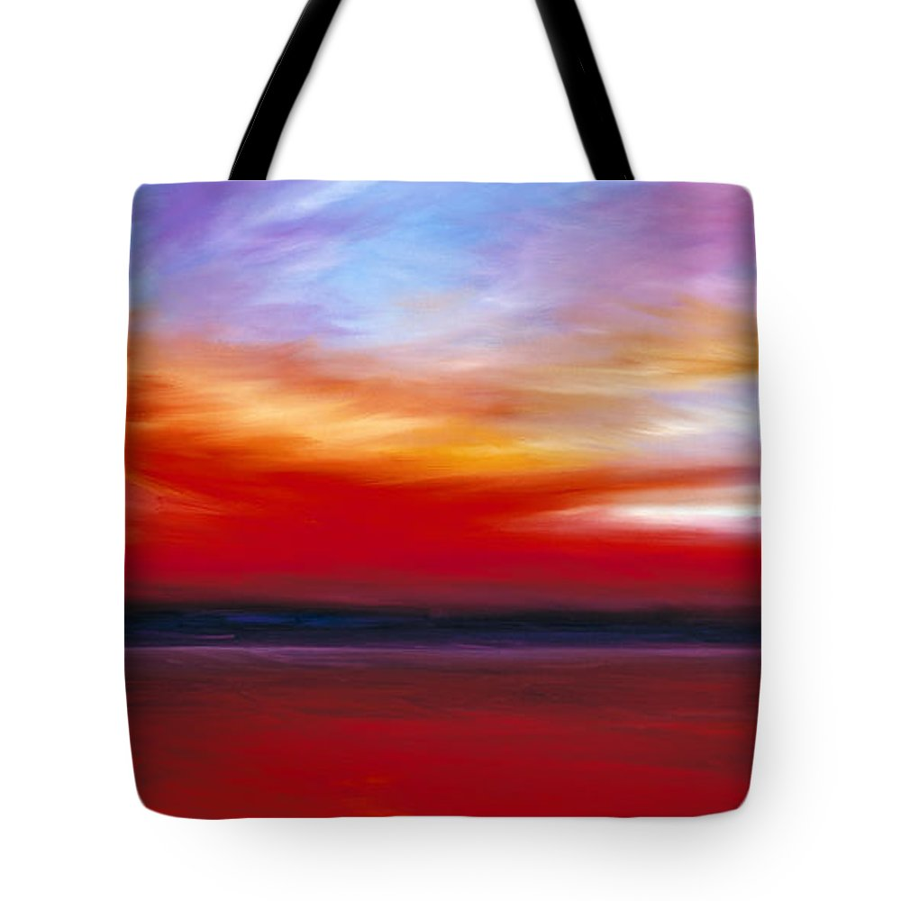 Clouds Tote Bag featuring the painting October Sky by James Christopher Hill