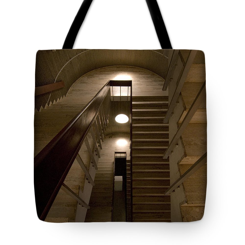 Stair Tote Bag featuring the photograph Oculus 2 by Robert Ponzoni
