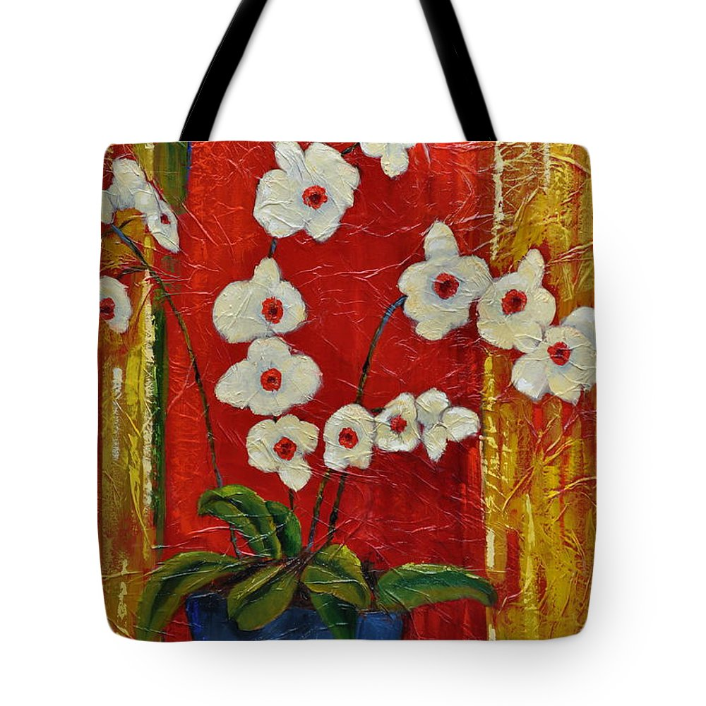 Orchids Tote Bag featuring the painting Ode To Orchids by Ginger Concepcion