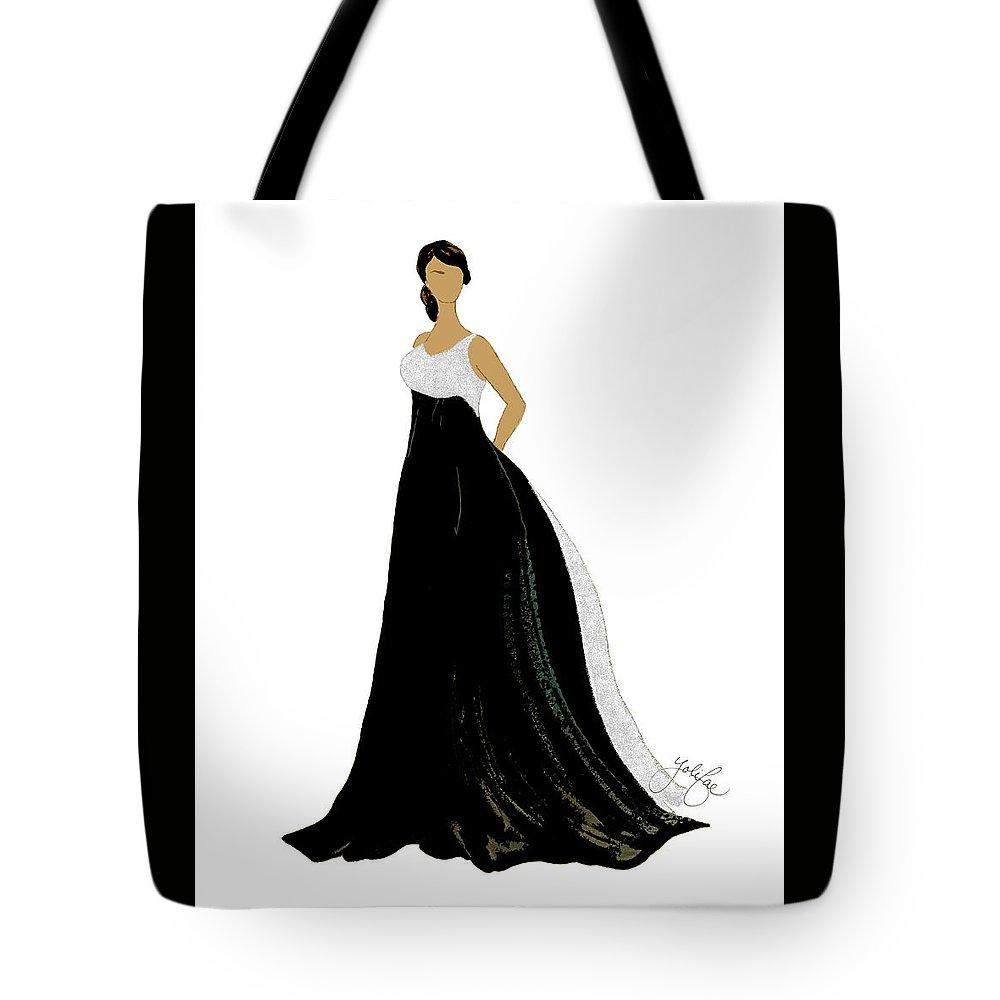 Digital Tote Bag featuring the digital art Odelia by Yoli Fae