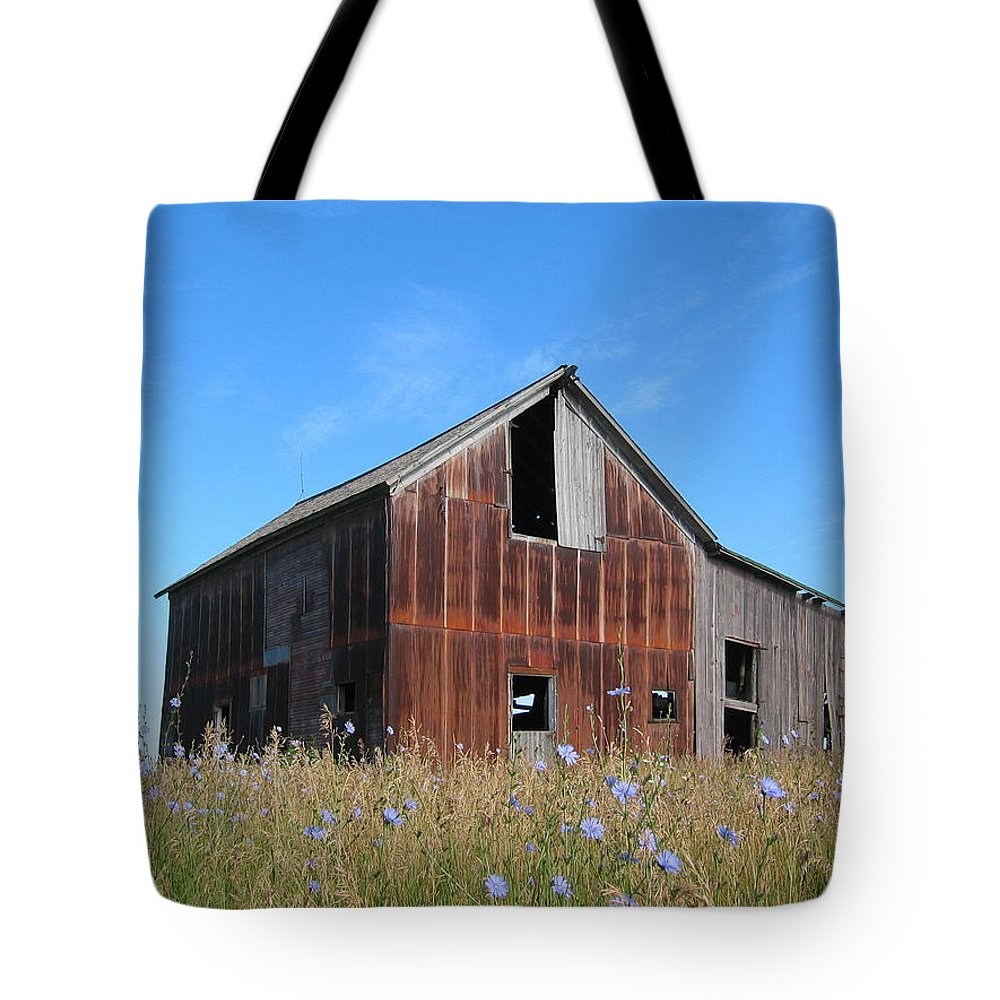 Landscape Tote Bag featuring the photograph Odell Barn I by Dylan Punke
