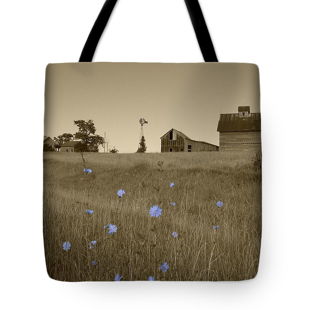 Landscape Tote Bag featuring the photograph Odell Farm V by Dylan Punke