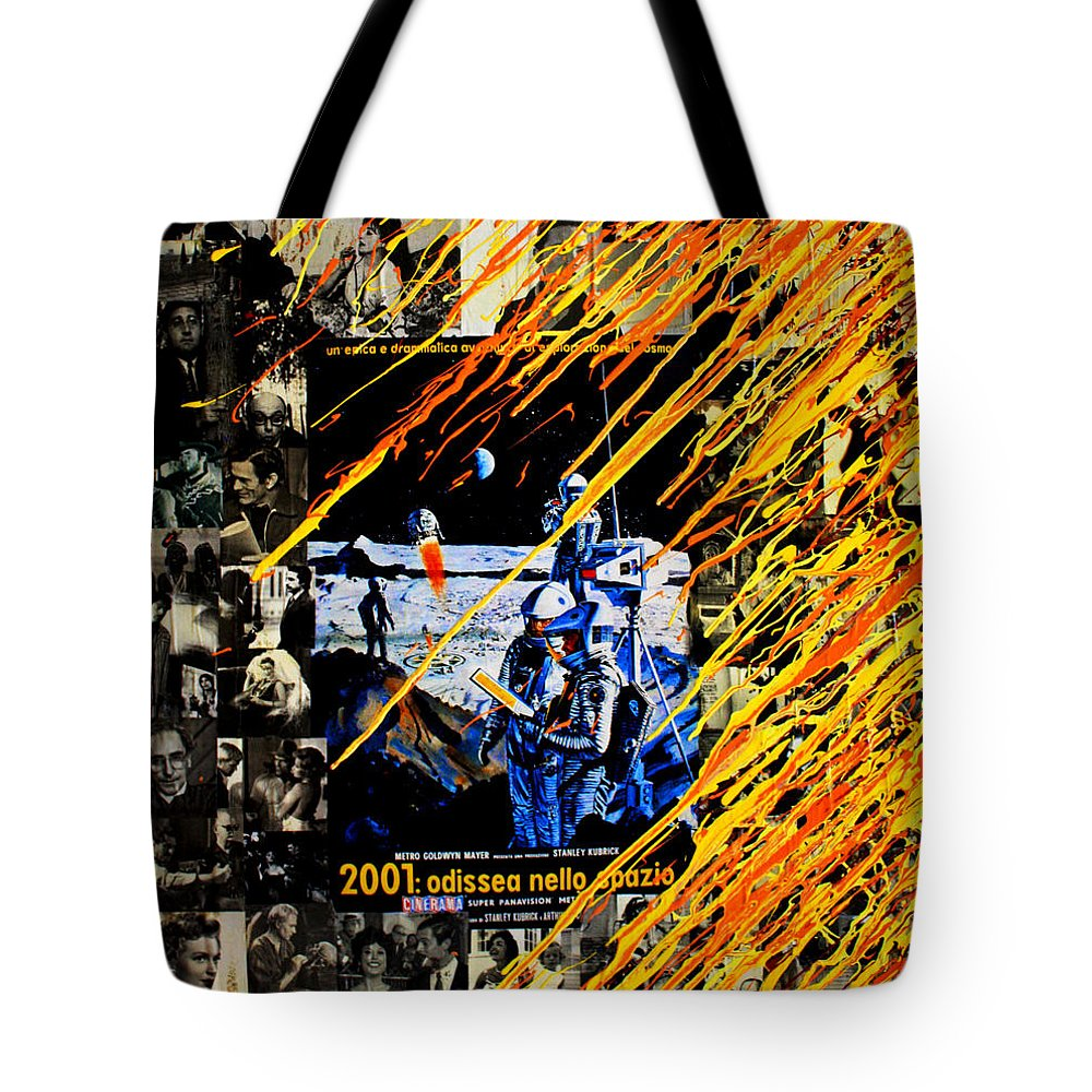 Cinema Tote Bag featuring the painting Odissea by Federico Biancotti