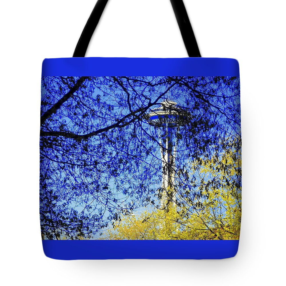 Scene Tote Bag featuring the photograph Off In Space by Maro Kentros