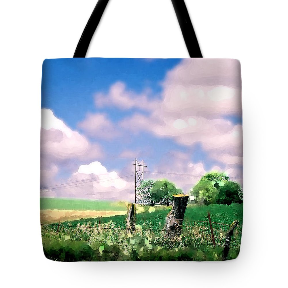 Landscape Tote Bag featuring the photograph Off The Grid by Steve Karol