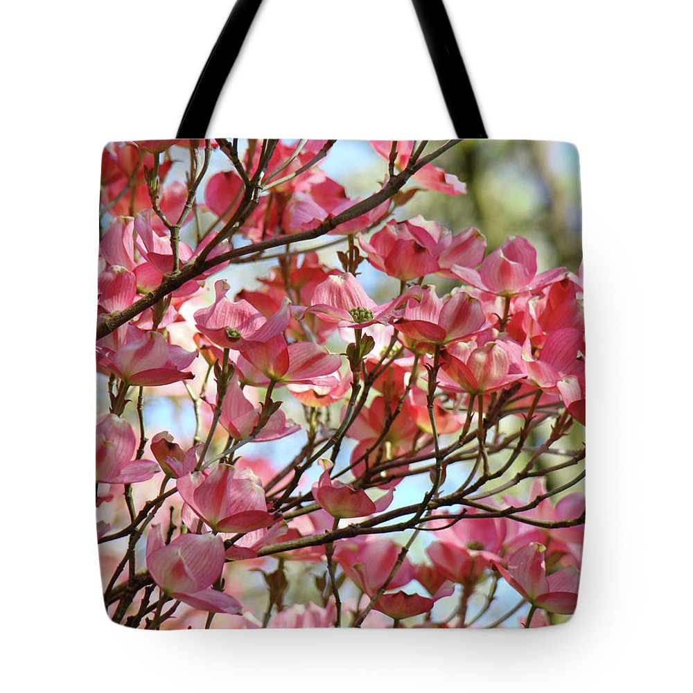 Dogwood Tote Bag featuring the photograph Office Art Prints Pink Flowering Dogwood Trees 18 Giclee Prints Baslee Troutman by Baslee Troutman