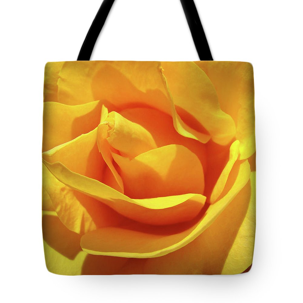 Rose Tote Bag featuring the photograph Office Art Prints Roses Orange Yellow Rose Flower 1 Giclee Prints Baslee Troutman by Baslee Troutman