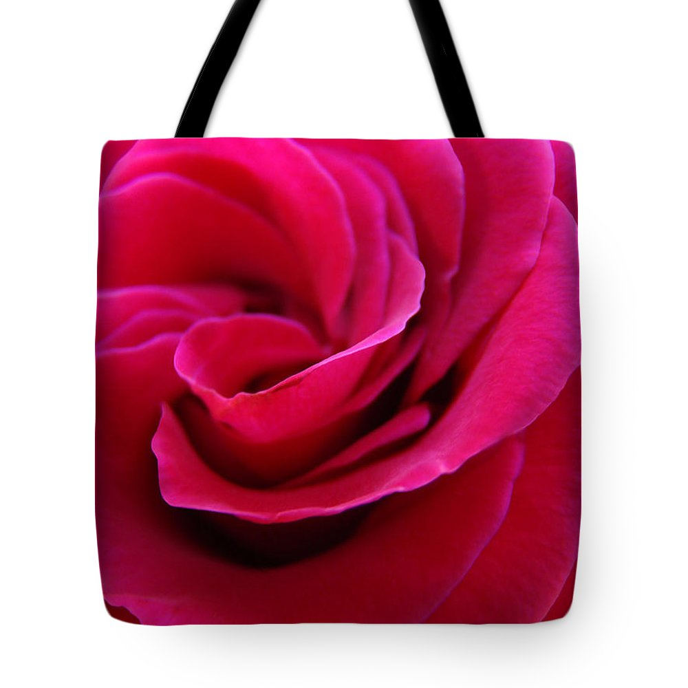 Rose Tote Bag featuring the photograph OFFICE ART ROSE SPIRAL Art Pink Roses Flowers Giclee Prints Baslee Troutman by Patti Baslee
