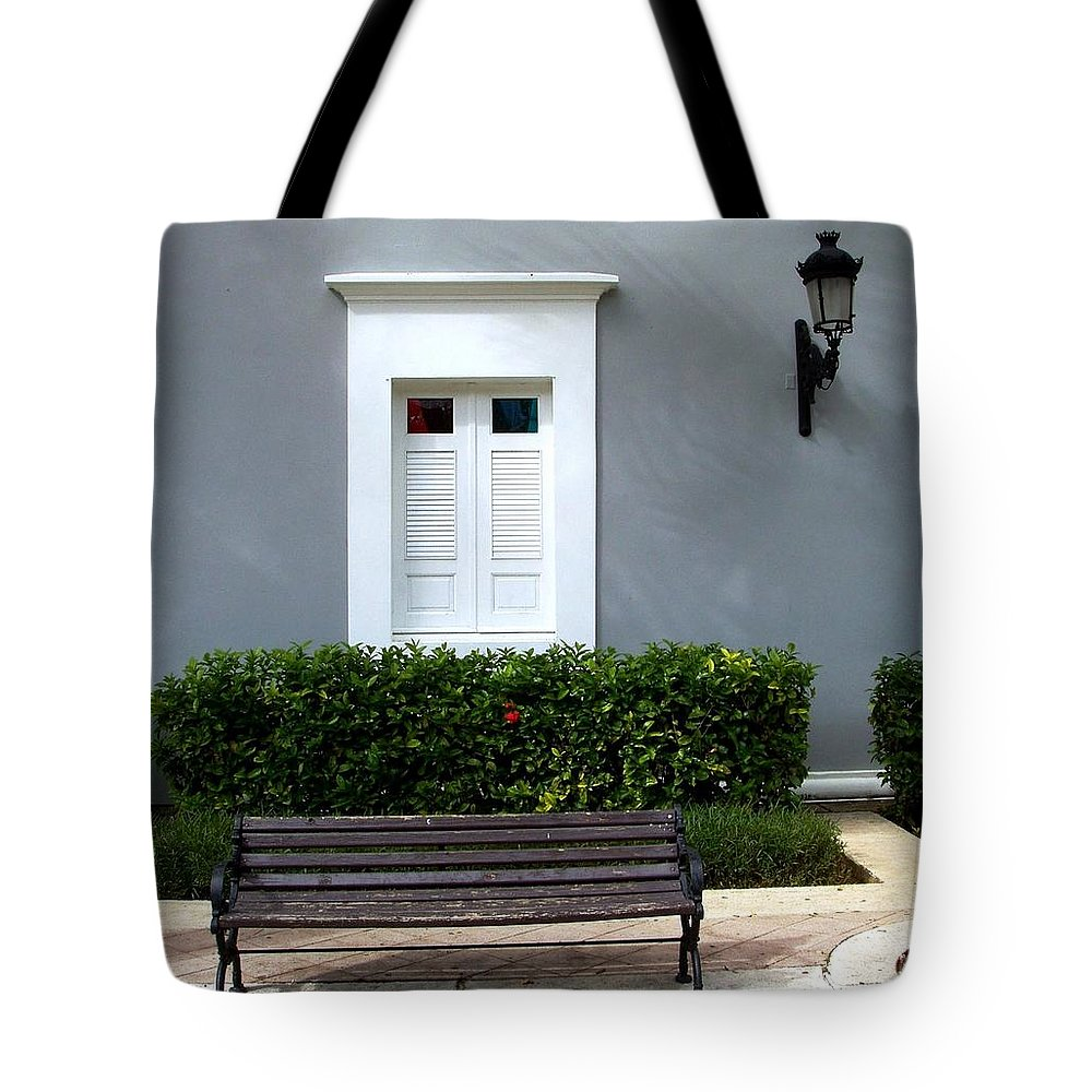 Building Tote Bag featuring the photograph Official Bldg by Deborah Crew-Johnson