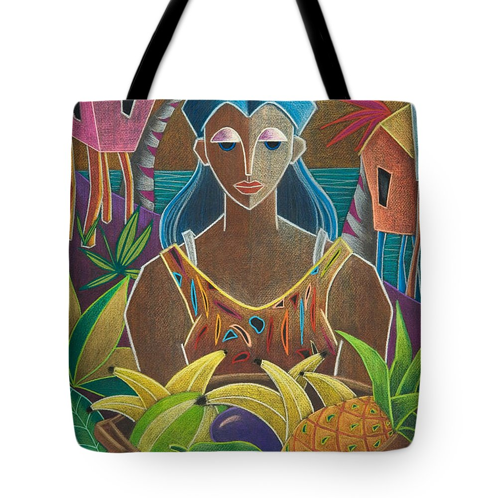 Female Tote Bag featuring the painting Ofrendas De Mi Tierra by Oscar Ortiz