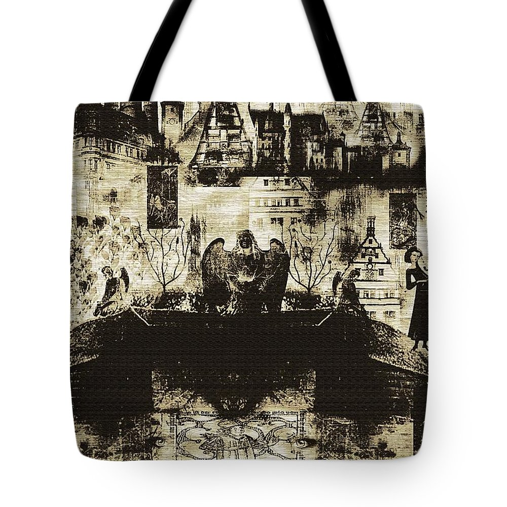 Angels Tote Bag featuring the digital art Oh Bosch by RC DeWinter
