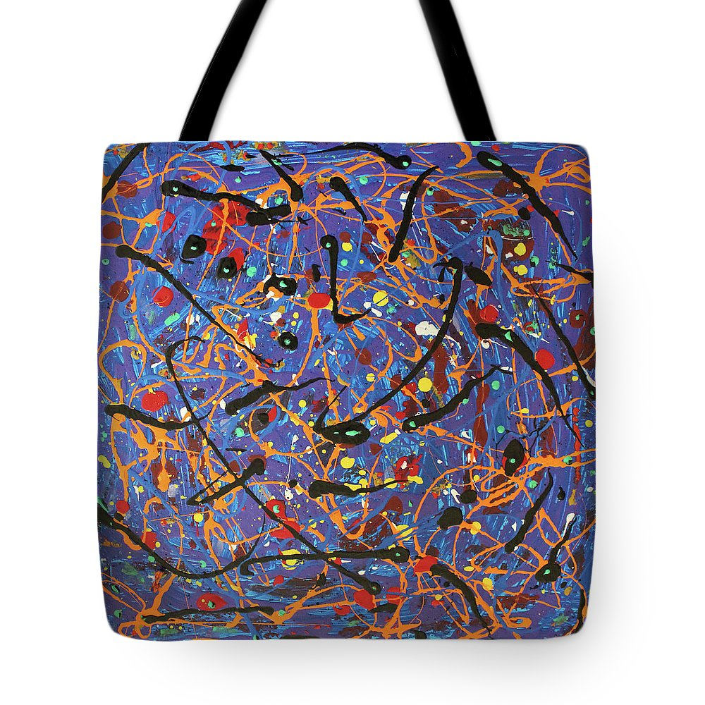 Blue Tote Bag featuring the painting Oh Happy Day by Pam Roth O'Mara