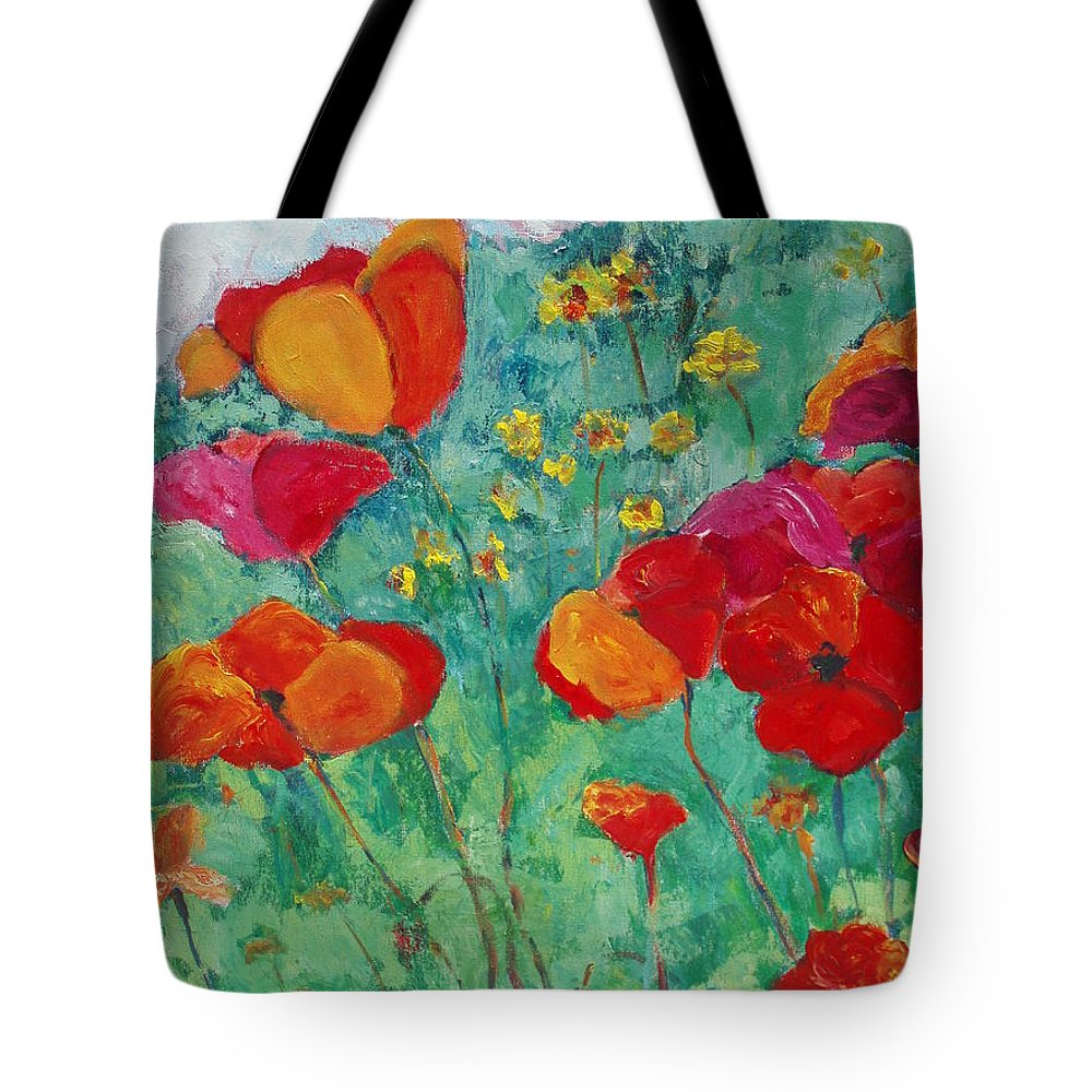 Flowers Tote Bag featuring the painting Oh Happy Day by Tara Moorman