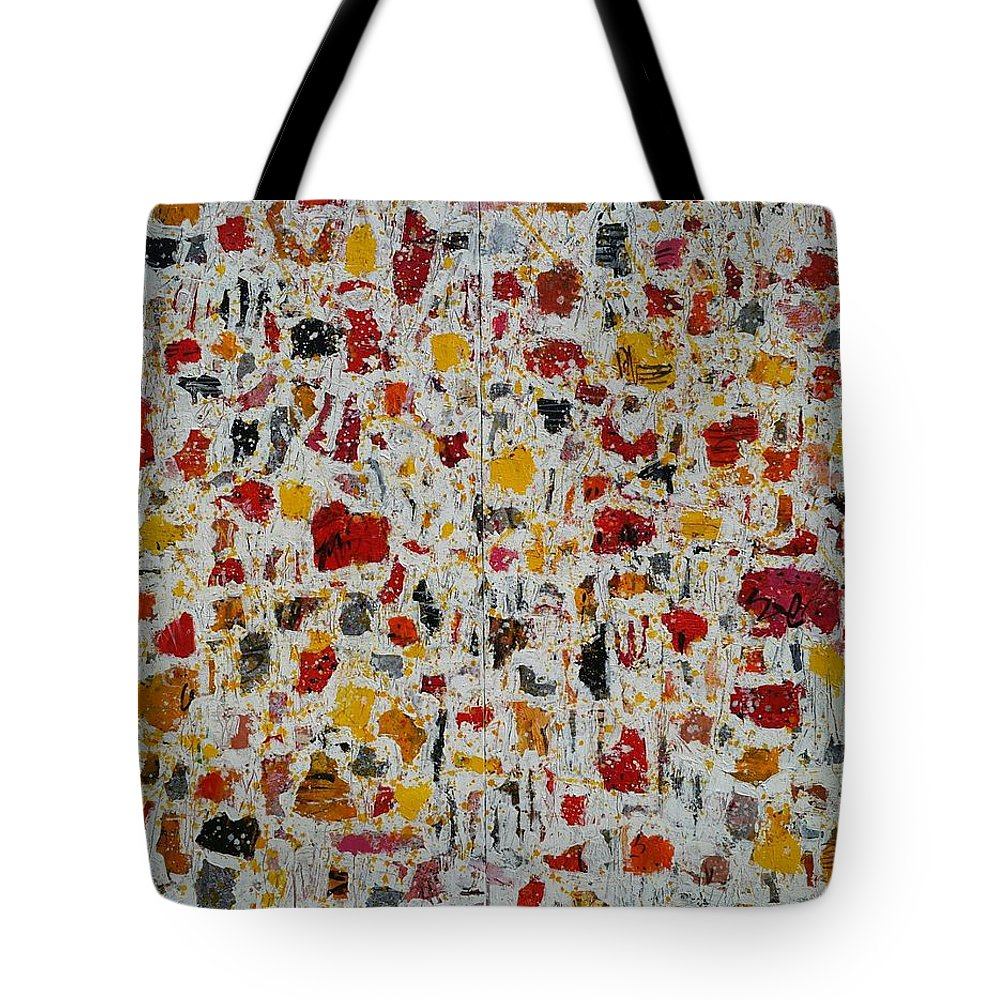 Abstract Expressionism. Pieces Of Memory Of A Warm Energetic Tote Bag featuring the painting Oh It's A Sunny Day by Bipasha Hayat