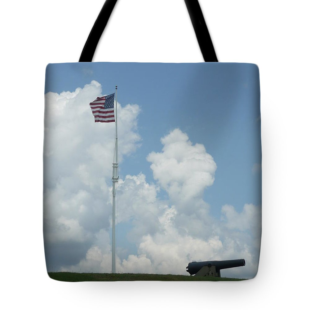 Flag Tote Bag featuring the photograph Oh Say Can You See by Barb Montanye Meseroll