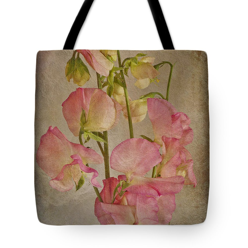 Pink Sweet Peas Tote Bag featuring the photograph Oh The Fragrance by Sandra Foster