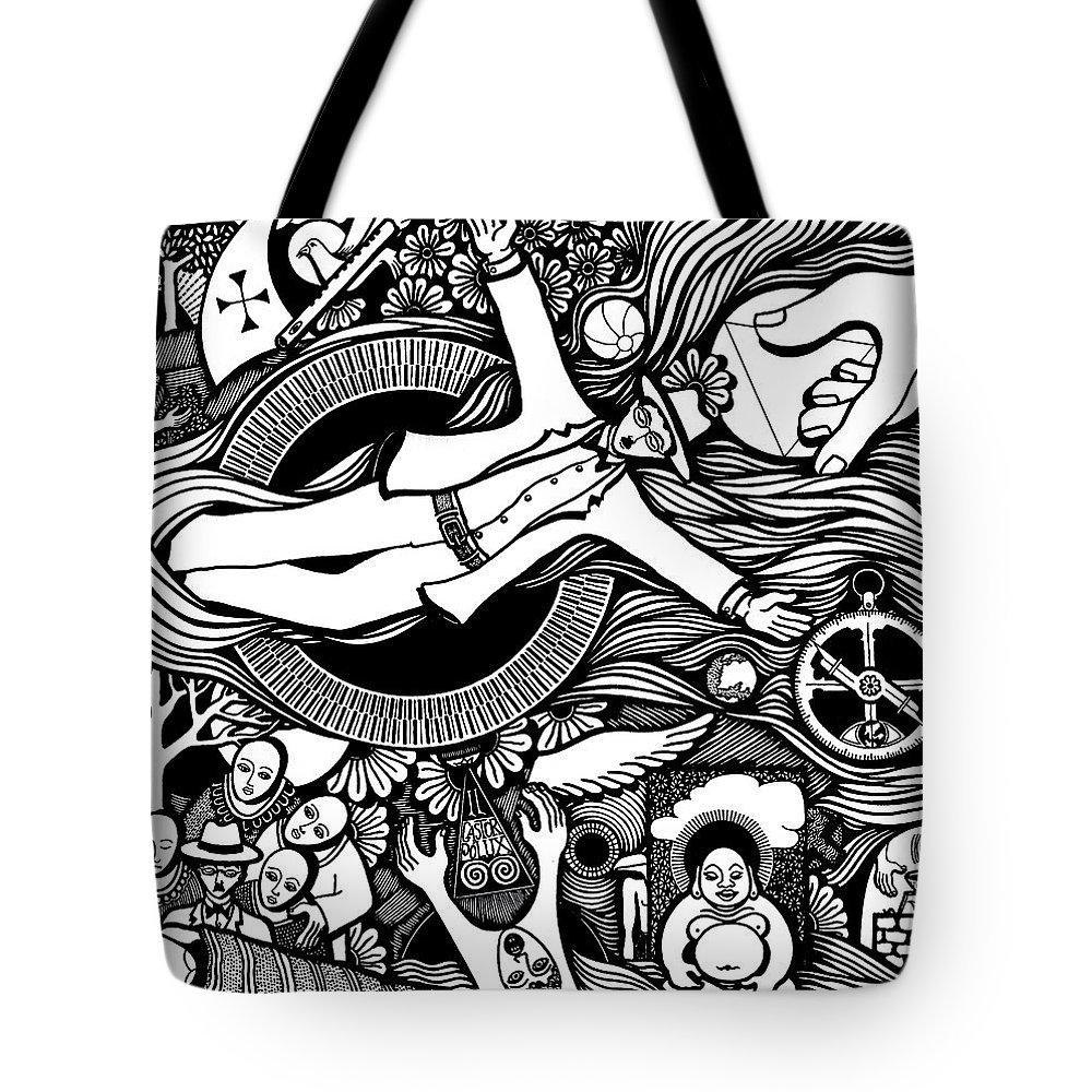 Drawing Tote Bag featuring the drawing Oh Universe I Am Yours by Jose Alberto Gomes Pereira