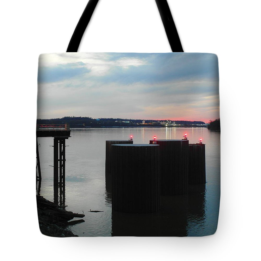 Kentucky Tote Bag featuring the photograph Ohio River View by Christopher Brown