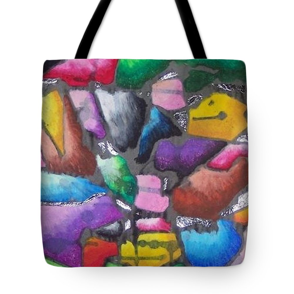 Abstract Tote Bag featuring the pastel Oil Pastel Abstract by Lindsey Saucier