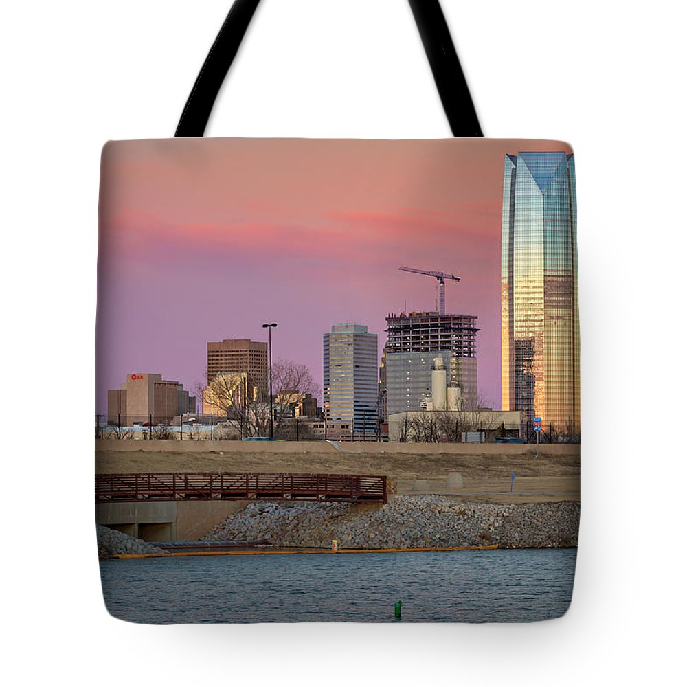 Okc Tote Bag featuring the photograph Okc Sunset by Ricky Barnard