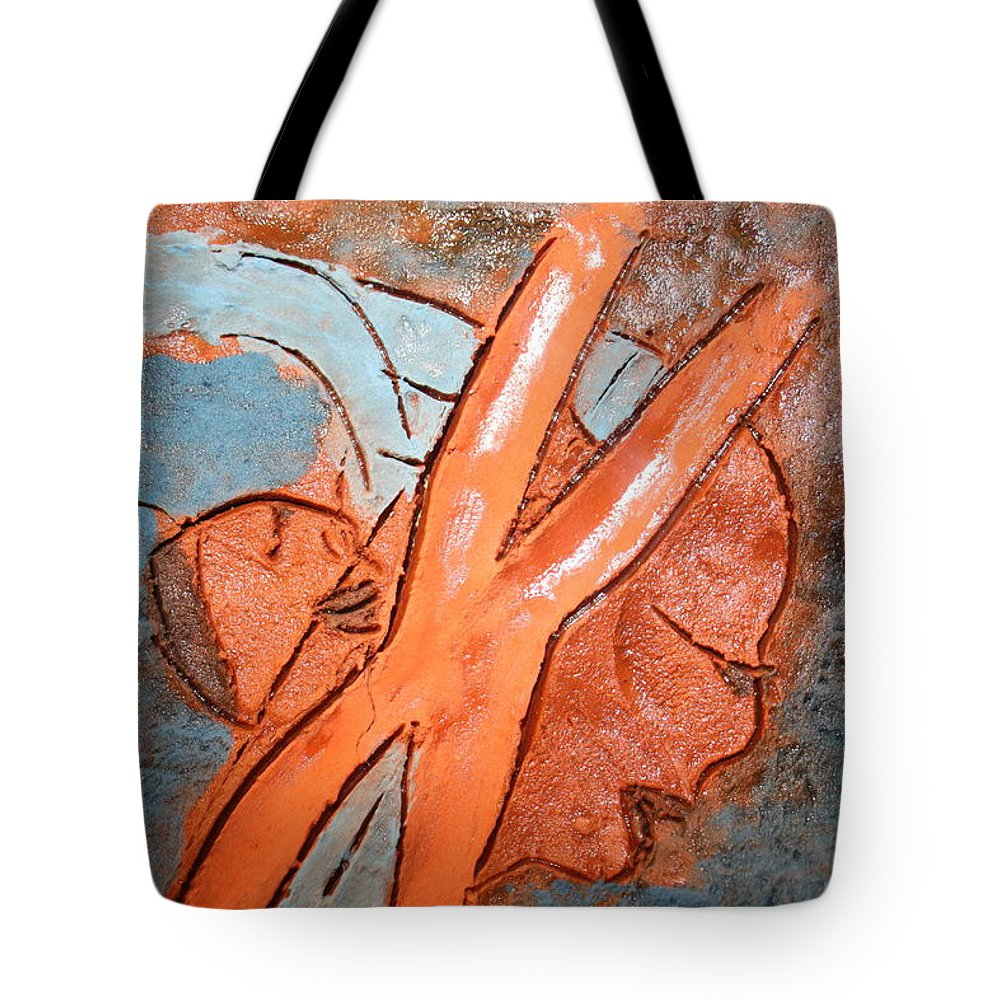 Jesus Tote Bag featuring the ceramic art Okuweka - Tile by Gloria Ssali
