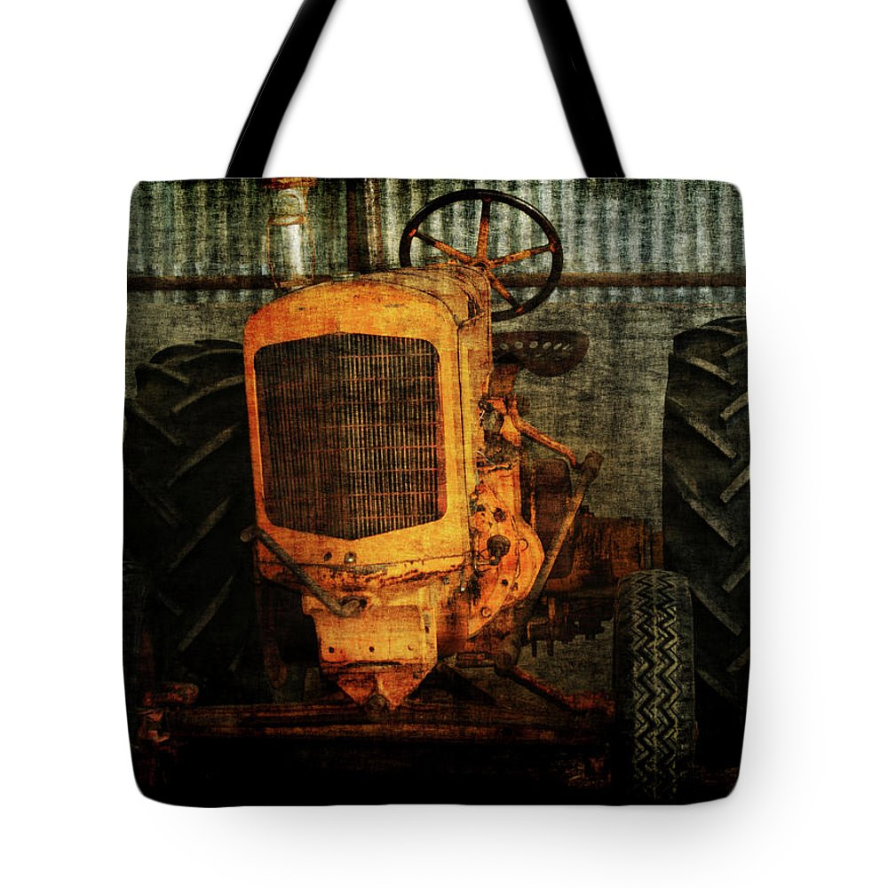 Tractors Tote Bag featuring the photograph Ol Yeller by Ernie Echols