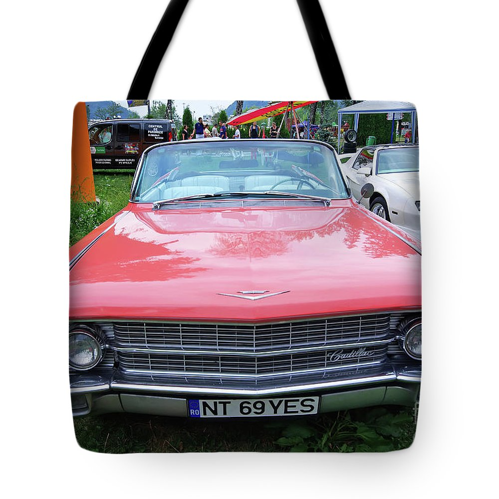 Car Tote Bag featuring the photograph Old American Car by Cosmin-Constantin Sava