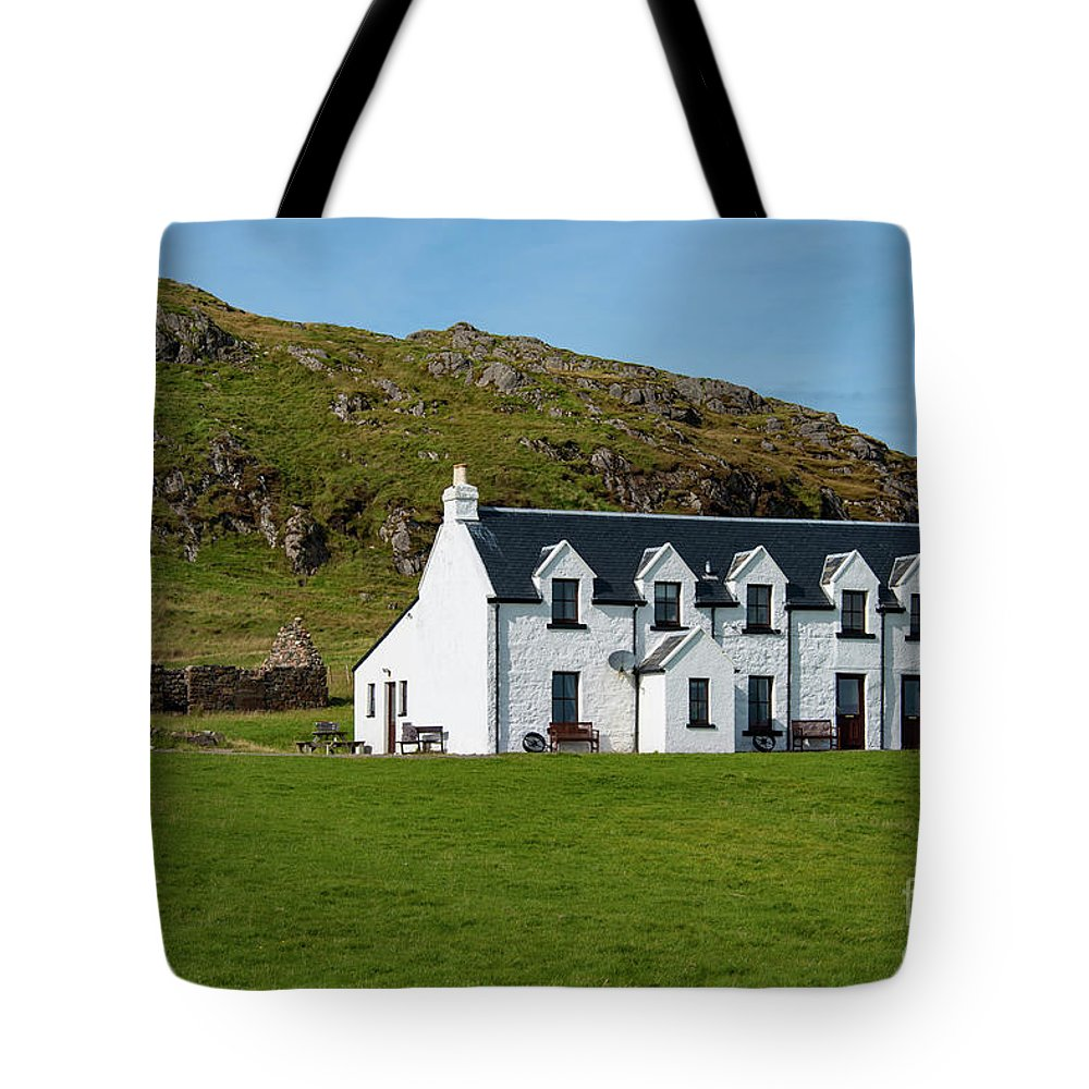 Isle Of Iona Tote Bag featuring the photograph Old And New Iona Architecture by Bob Phillips