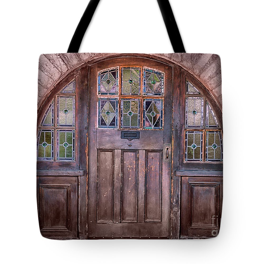 Southwest Tote Bag featuring the photograph Old Arched Doorway-tucson by Sandra Bronstein