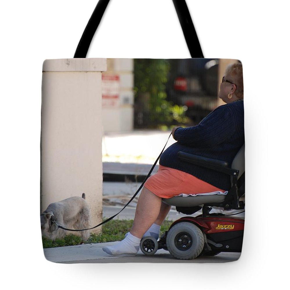 Women Tote Bag featuring the photograph Old Barefoot Women by Rob Hans