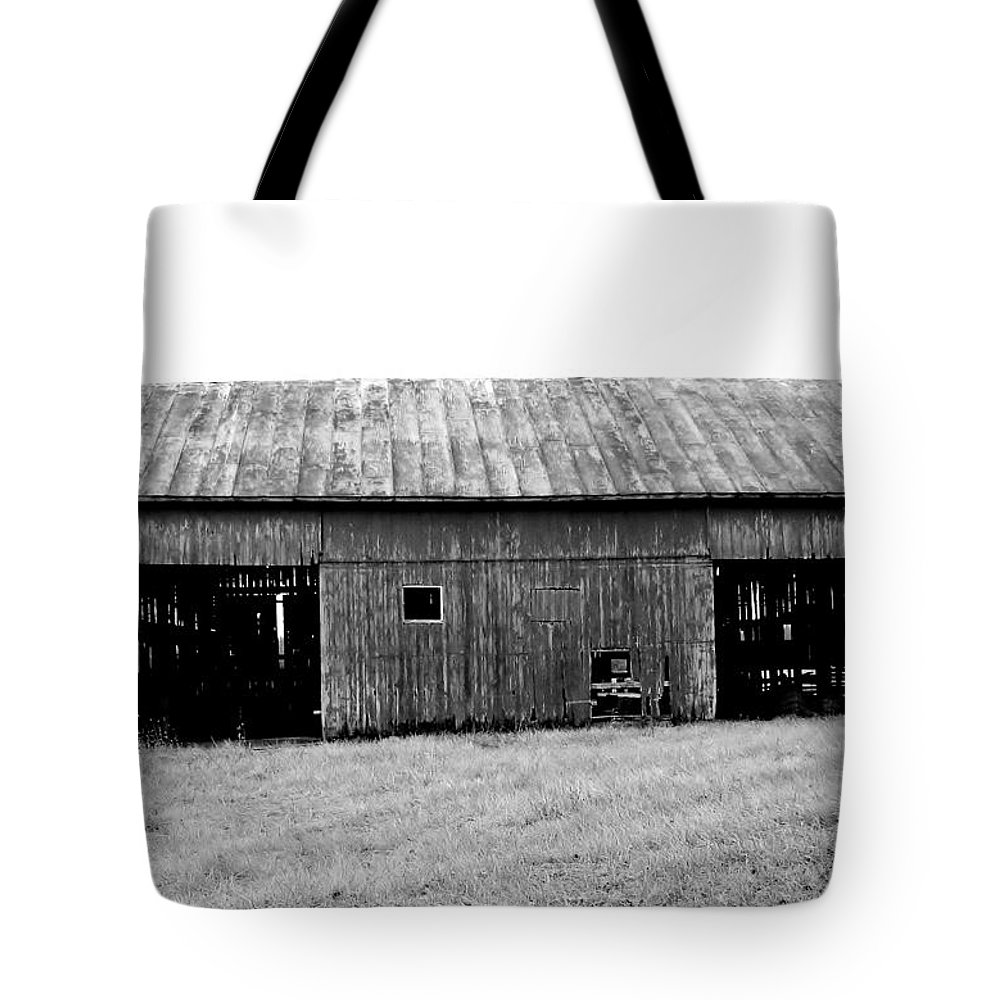 Black Tote Bag featuring the photograph Old Barn by Rancher's Eye Photography