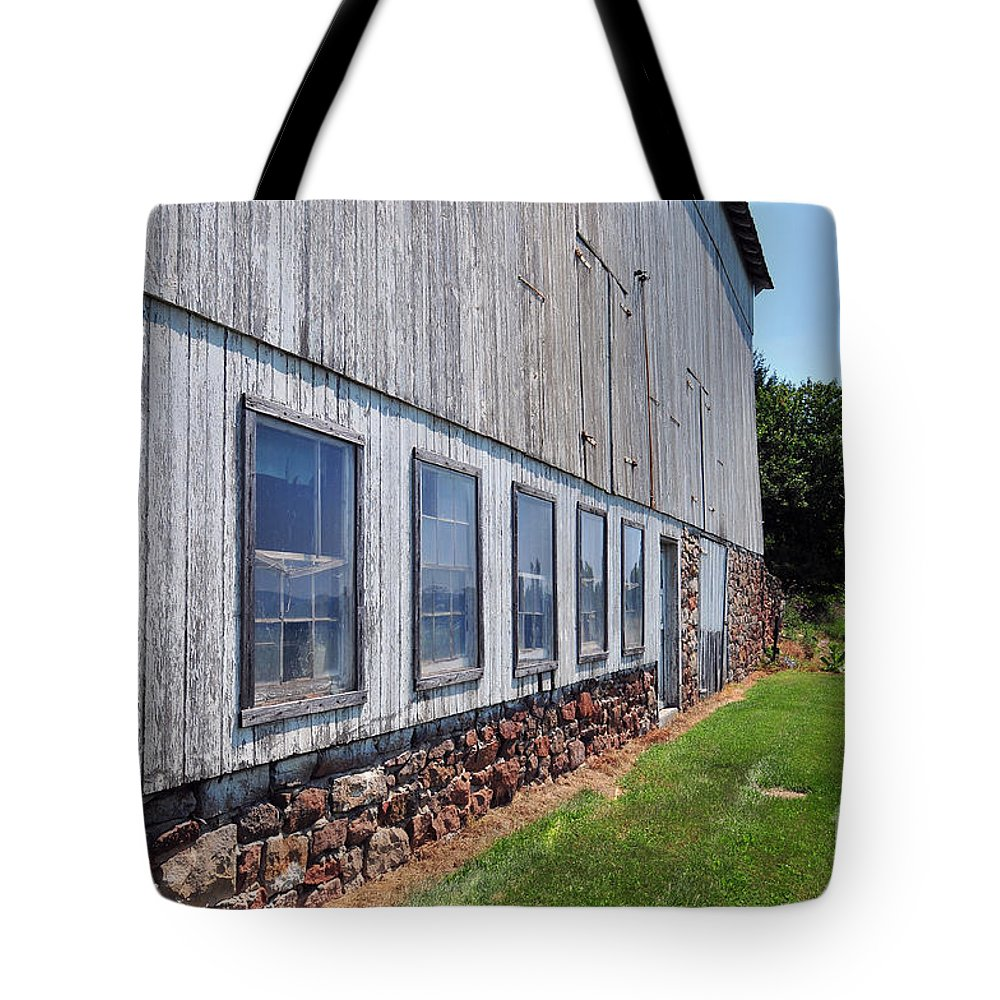 Tote Bag featuring the photograph Old Barn Windows by Terri Winkler
