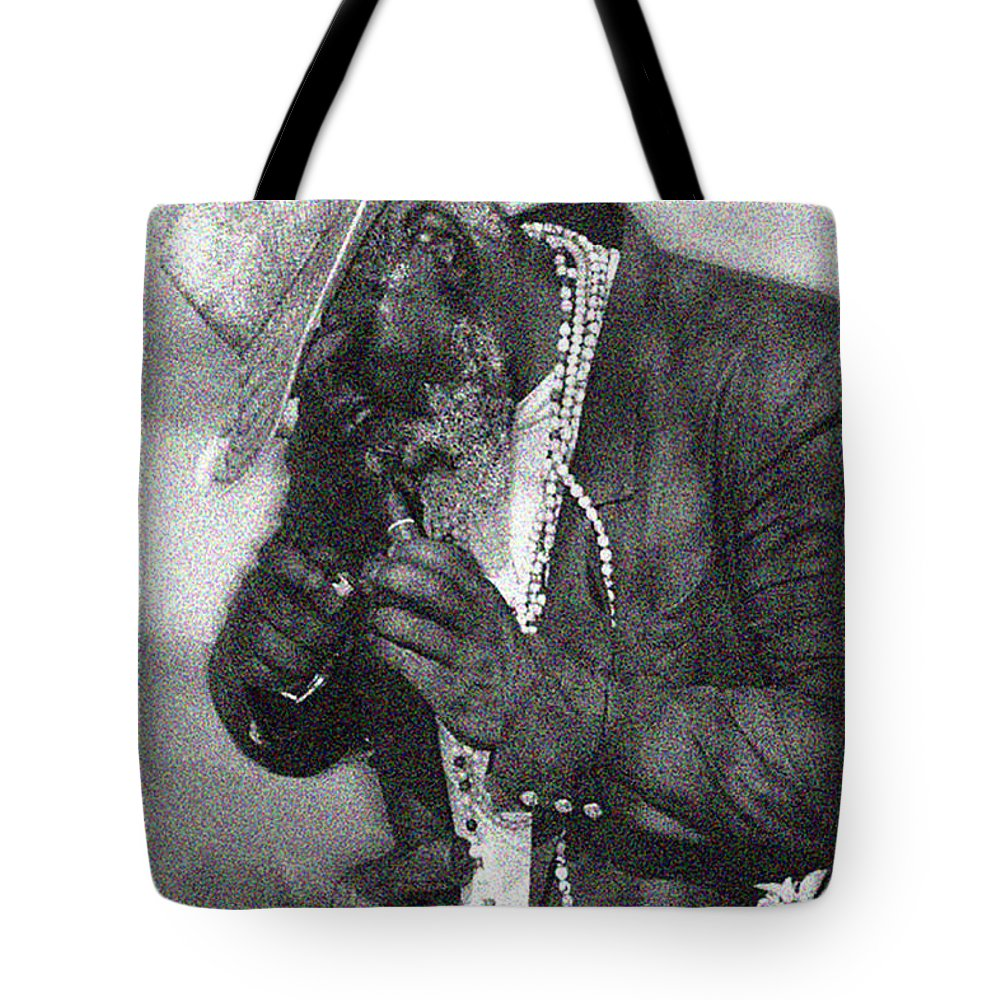 Old Black Man Tote Bag featuring the digital art Old Black Man by Marcus Wang