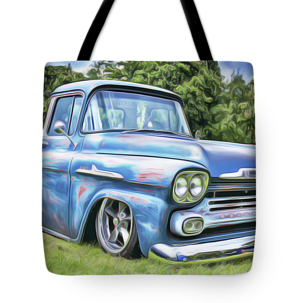 Old Blue Tote Bag featuring the painting Old Blue by Harry Warrick