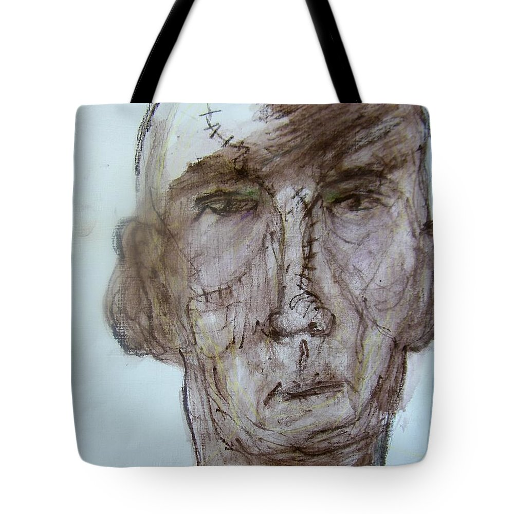 Abstract Tote Bag featuring the painting Old Boxer by Judith Redman