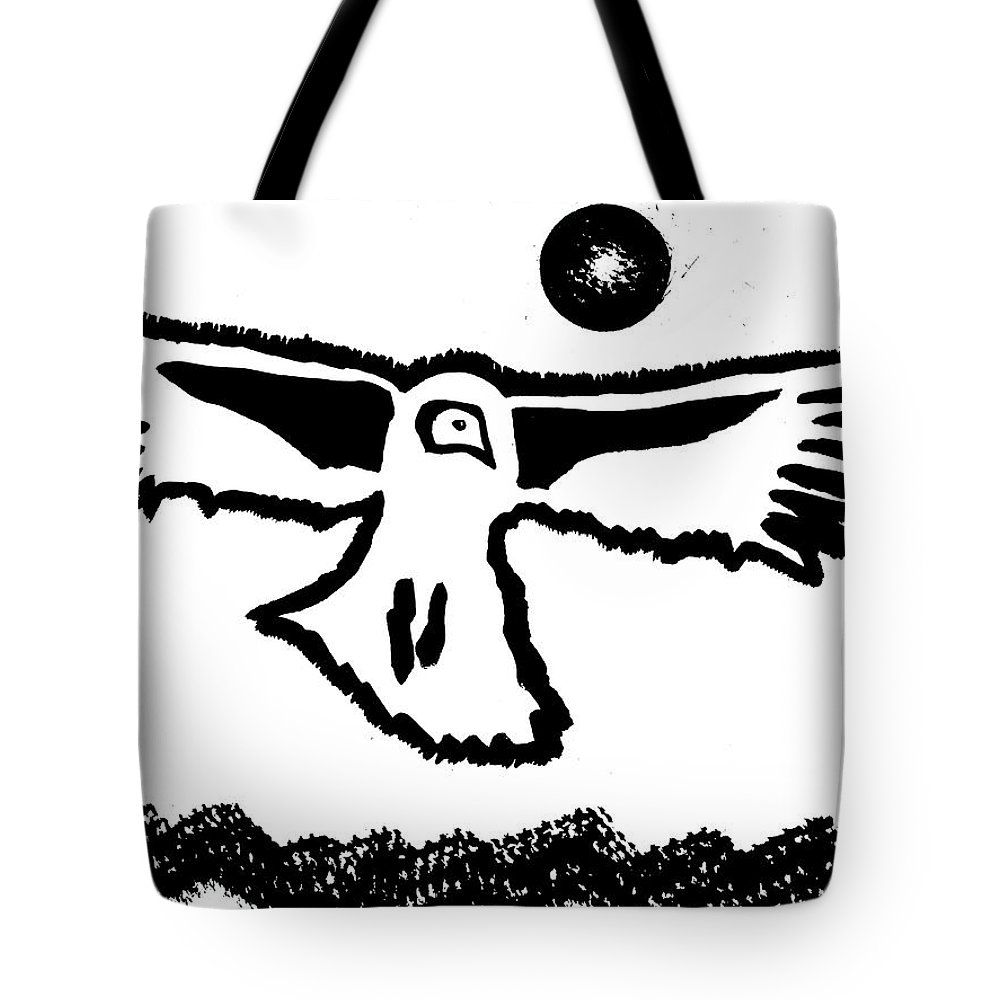 Condor Tote Bag featuring the painting Old Boy Riding High Original Painting by Sol Luckman