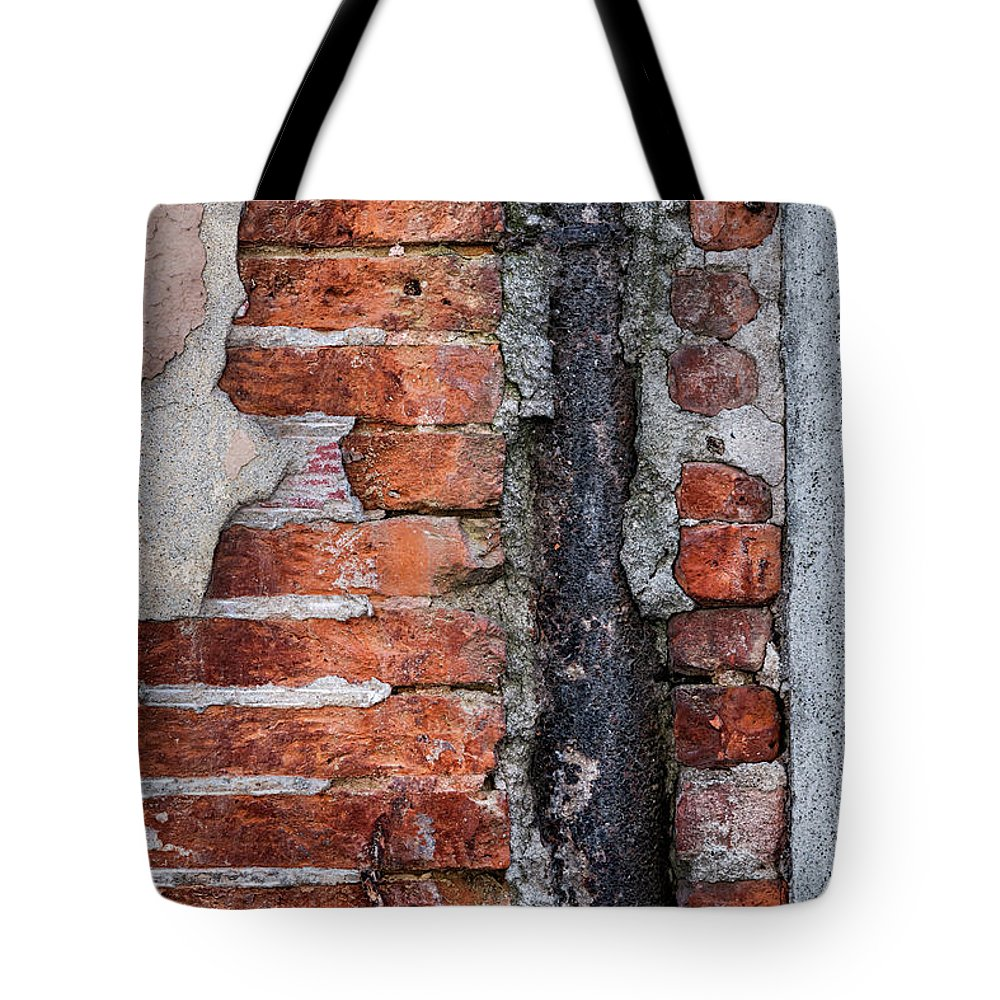 Wall Tote Bag featuring the photograph Old Brick Wall Fragment by Elena Elisseeva
