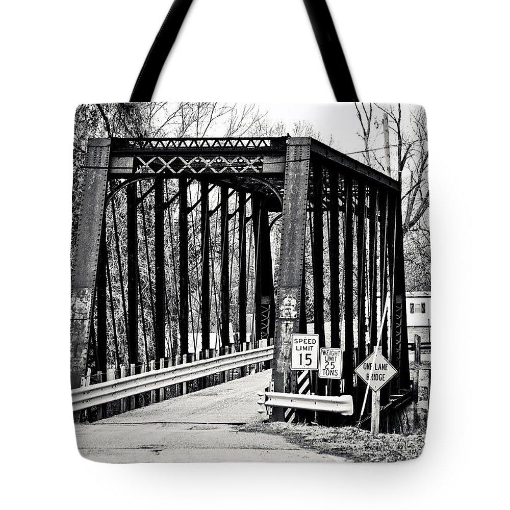Old Bridge Tote Bag featuring the photograph Old Bridge by Sennie Pierson