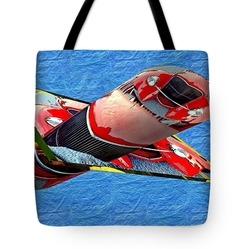 Cars Tote Bag featuring the photograph Old Car Bump Map As Art by Karl Rose