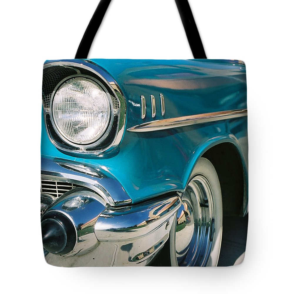 Chevy Tote Bag featuring the photograph Old Chevy by Steve Karol