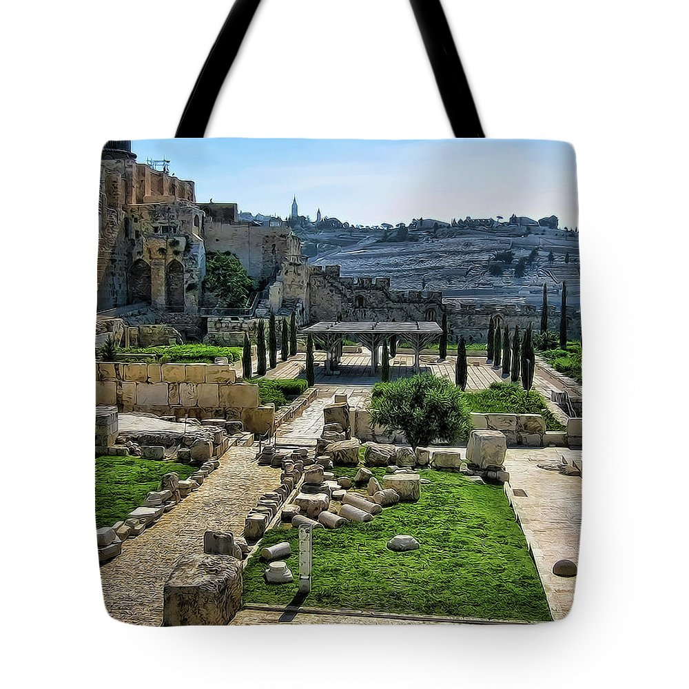 Old Jerusalem City Tote Bag featuring the photograph Old City by Douglas Barnard