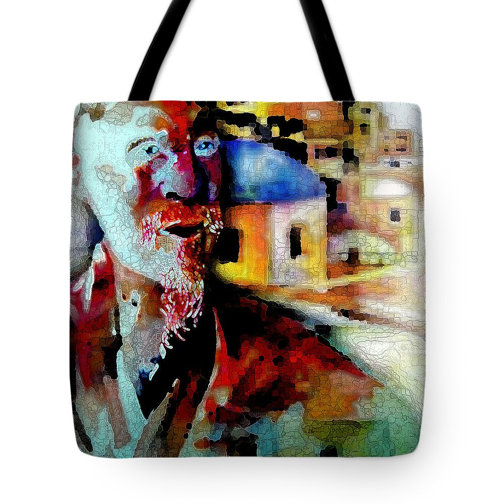 Old Consciousness Tote Bag featuring the digital art Old Consciousness by Tony Macelli