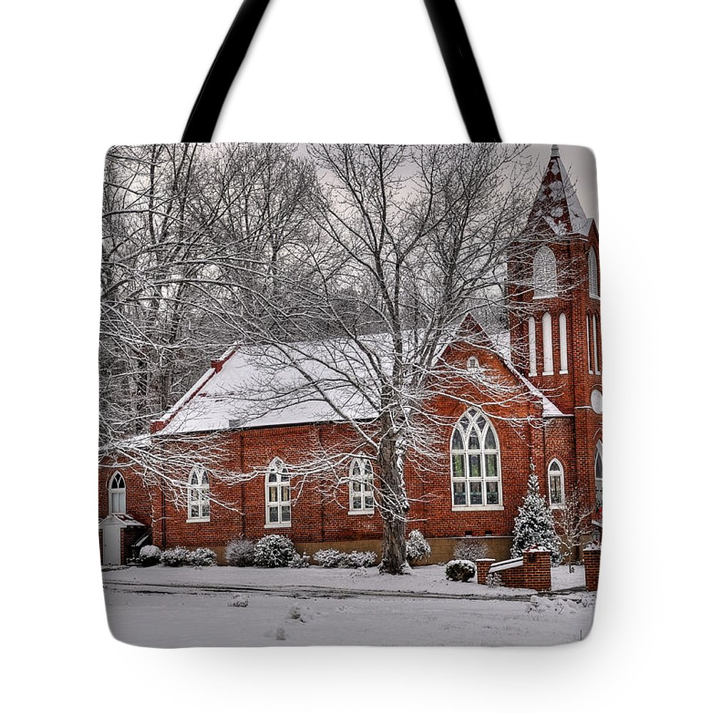 Old Country Church Tote Bag featuring the photograph Old Country Church by Todd Hostetter