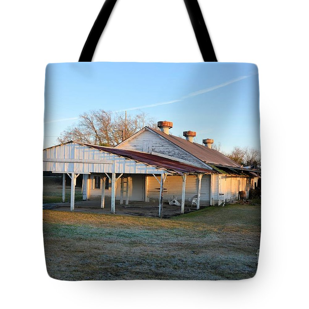 Darien Tote Bag featuring the photograph Old Dairy Of Darien by Katherine W Morse