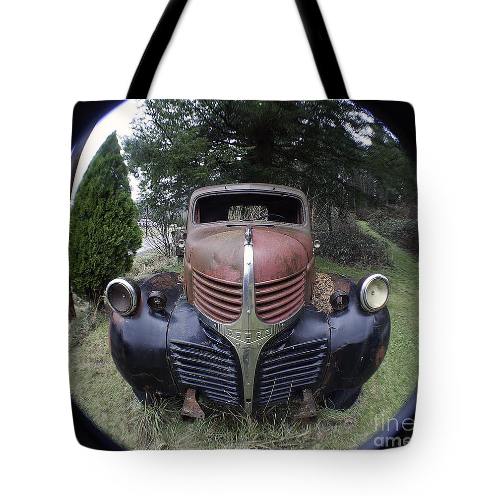 Art Tote Bag featuring the photograph Old Dodge Truck by Clayton Bruster