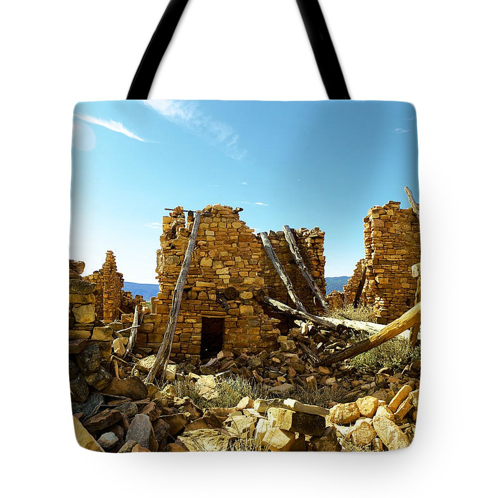 Old Tote Bag featuring the photograph Old Doors Kinishba Ruins by Jeff Swan